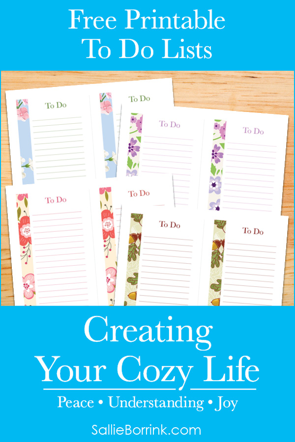 Free Printable To Do Lists - Creating Your Cozy Life Planner