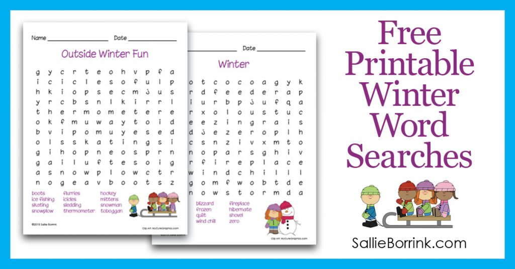 Free Printable Winter Word Searches 2