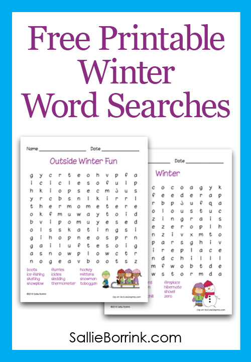 Free Printable Winter Word Searches
