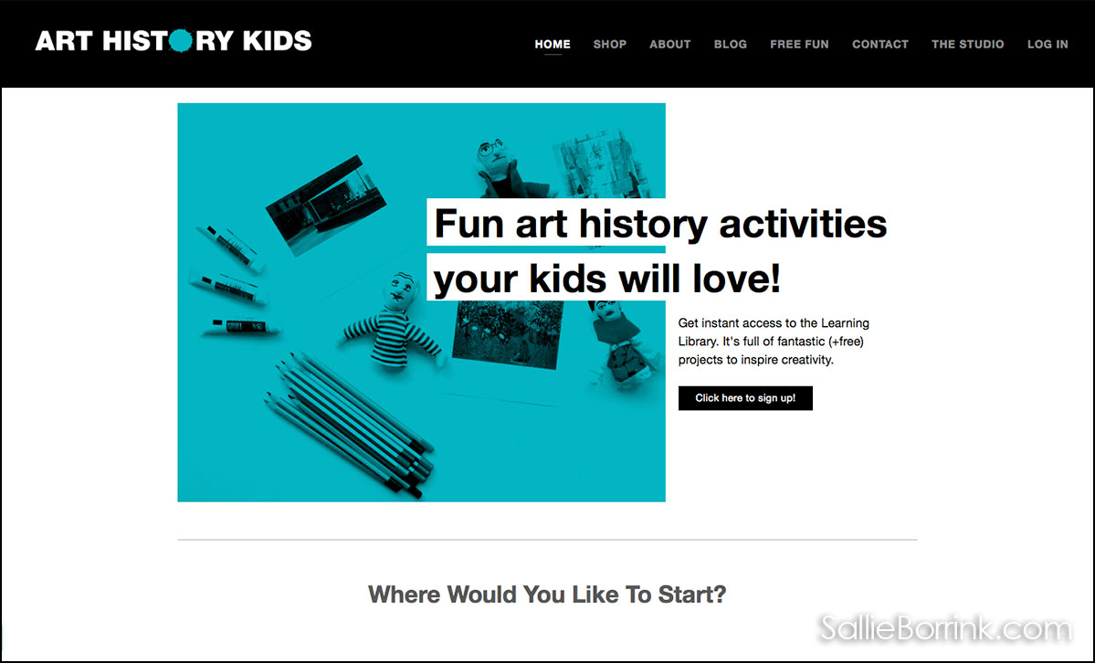 Art History For Kids Website