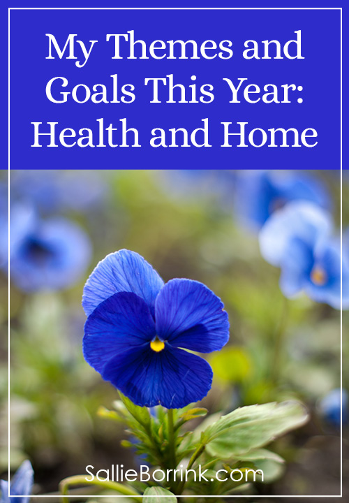 My Themes and Goals This Year-Health and Home