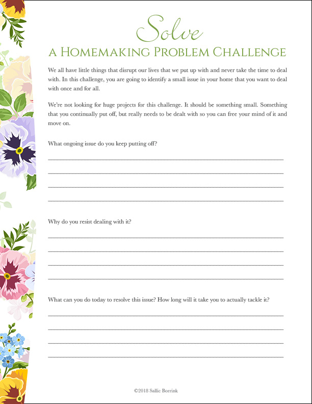 Solve a Homemaking Problem