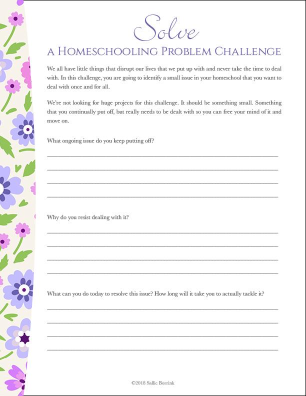 Solve a Homeschooling Problem