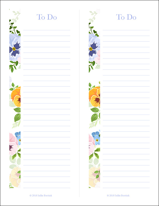 graphic about Printable to Do Lists titled Cost-free Printable In the direction of Do Lists - A Tranquil Straightforward Everyday living with Sallie