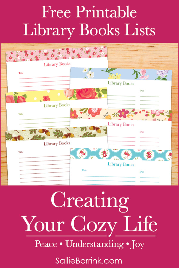 Free Printable Library Books Lists - Creating Your Cozy Life Planner