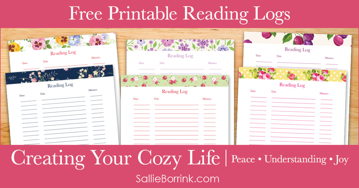 Free Printable Reading Logs - Creating Your Cozy Life Planner 2