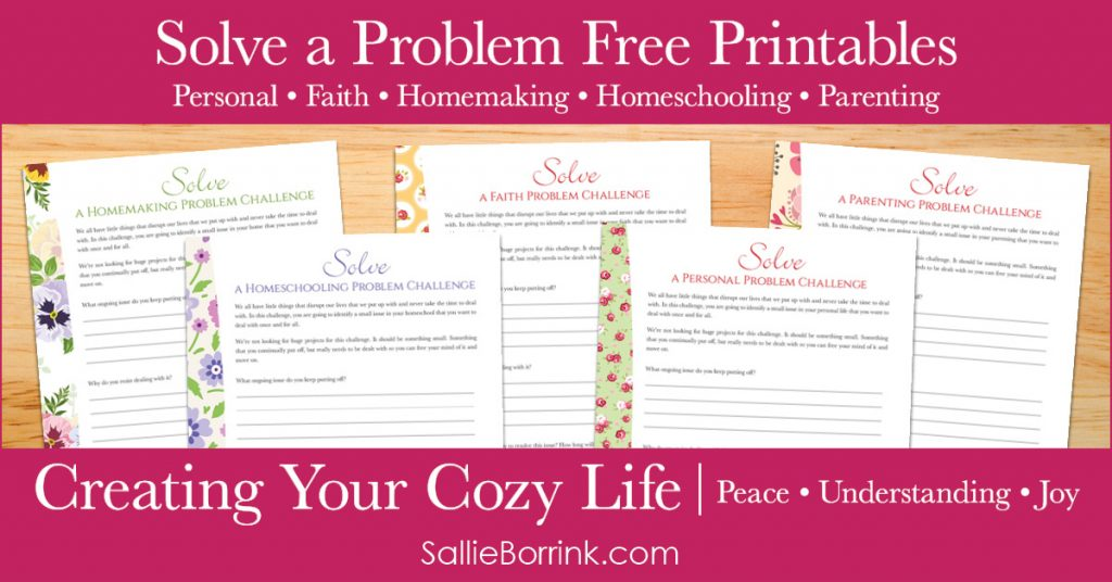 Free Solve a Problem Printables - Creating Your Cozy Life Planner 2