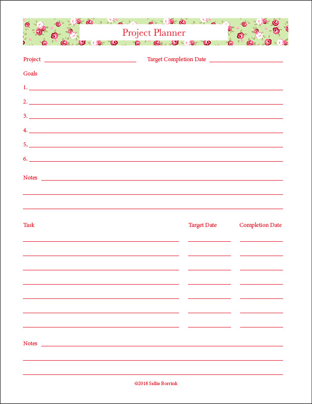 image relating to Free Printable Project Planner titled Absolutely free Printable Task Planner - A Relaxed Very simple Lifestyle with