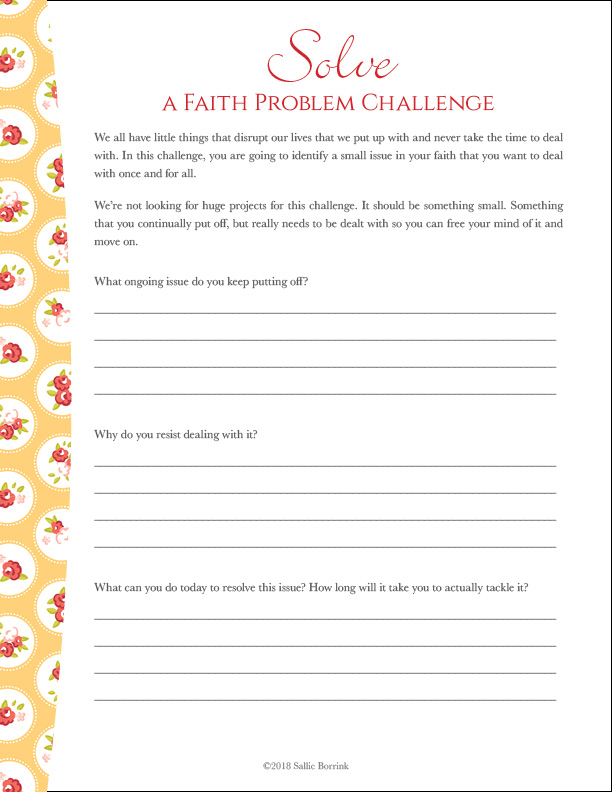 Solve a Faith Problem