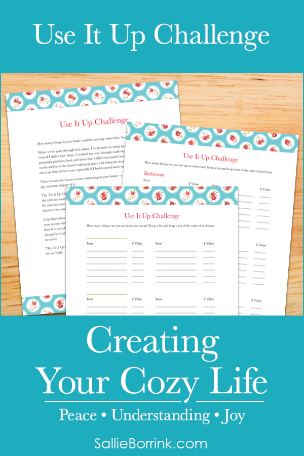 Use it Up Challenge - Creating Your Cozy Life Planner