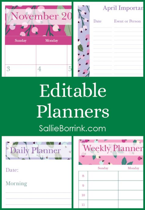 Editable Planners
