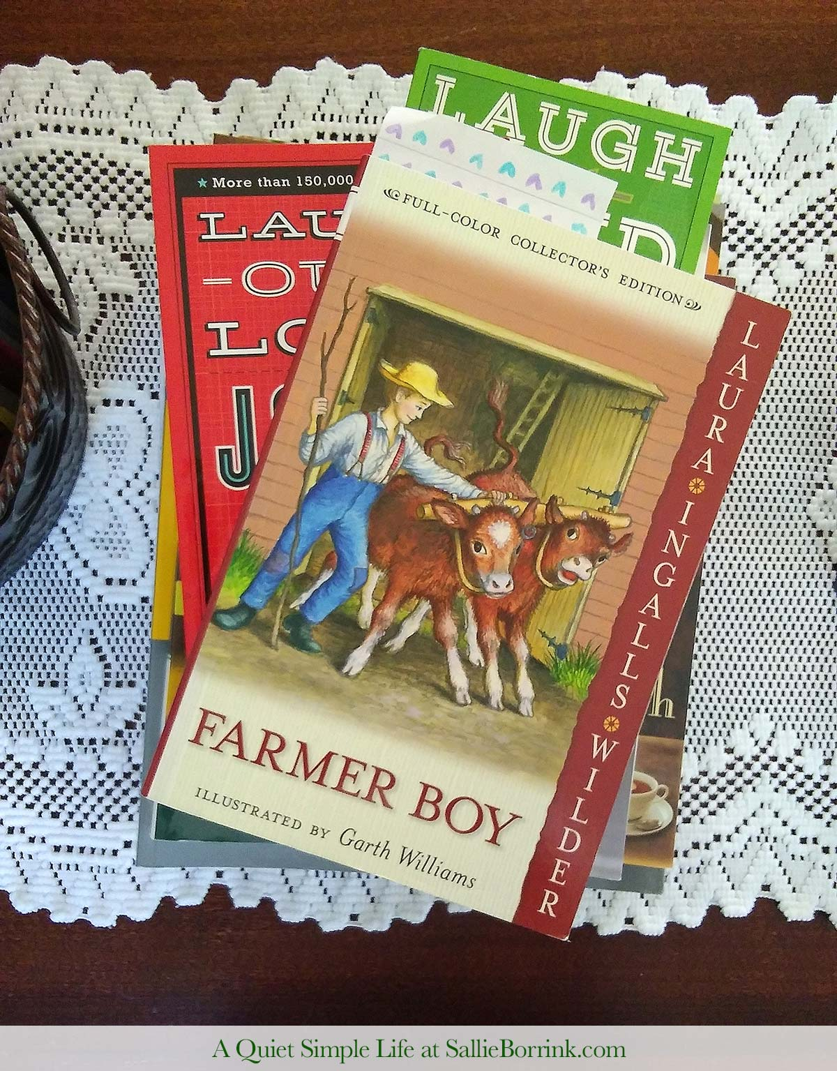 Reading Aloud Farmer Boy from the Little House on the Prairie Series