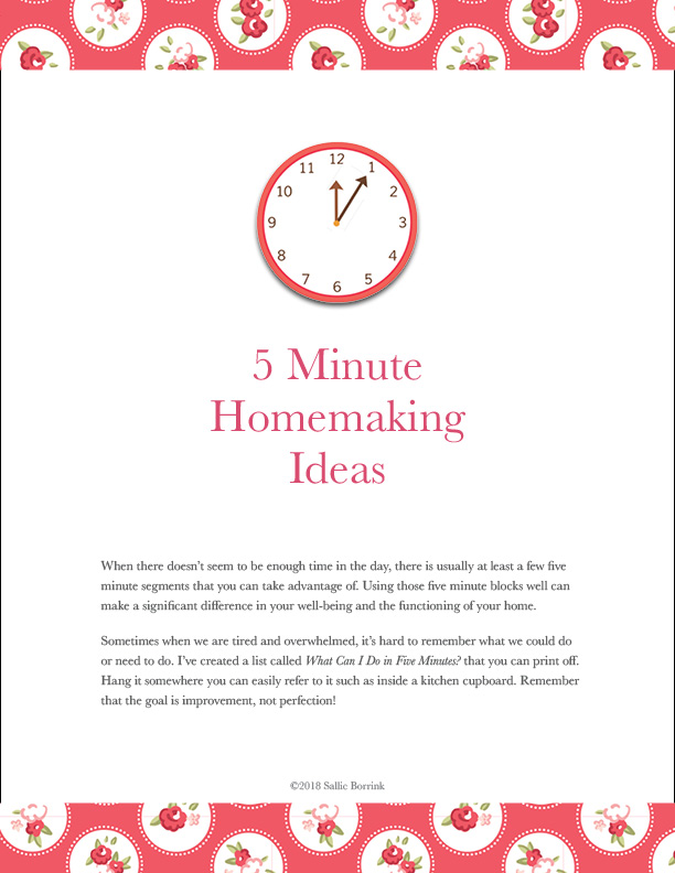 5 Minute Homemaking Ideas