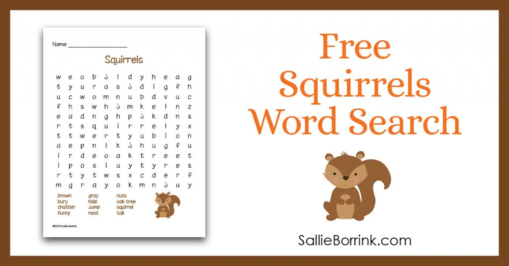 photograph about Squirrel Printable referred to as No cost Squirrels Phrase Appear Printable - A Serene Basic Lifestyle