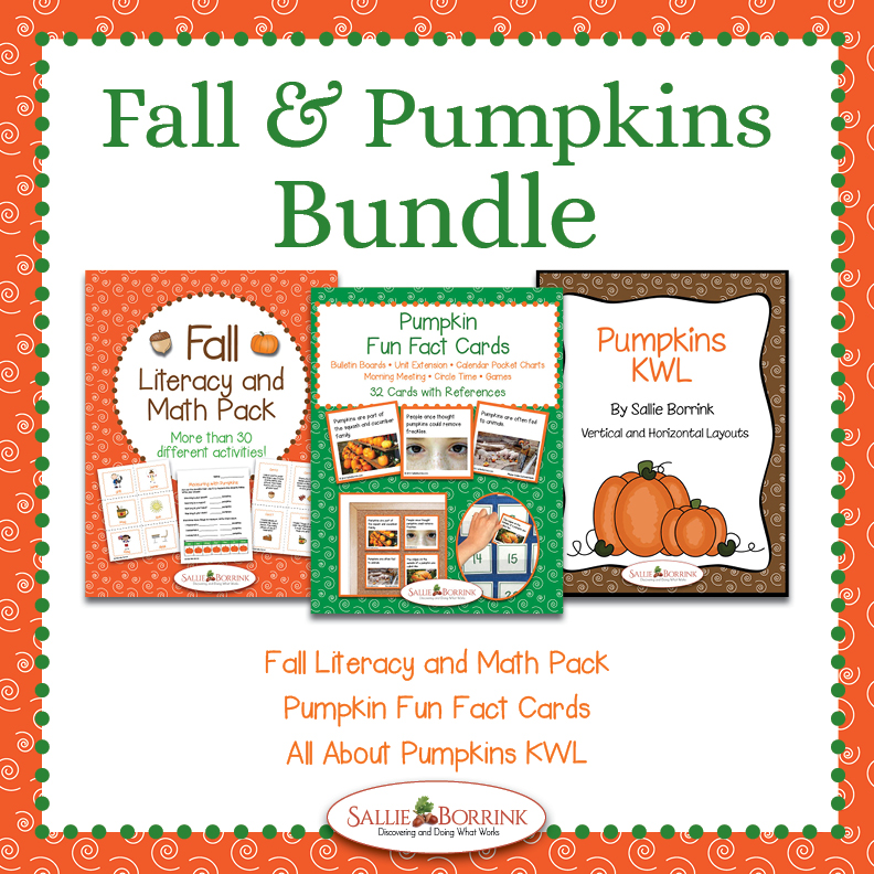 Fall and Pumpkins Bundle – Literacy and Math Activities, Fun Fact Cards, and KWL