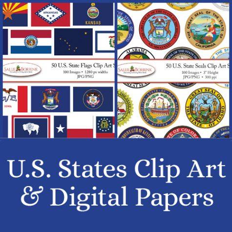 U. S. States Clip Art