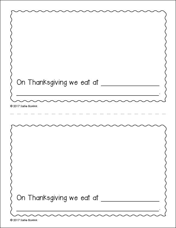 My Thanksgiving Celebration Little Book page 4