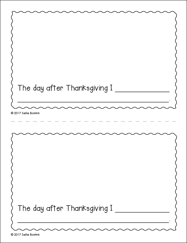 My Thanksgiving Celebration Little Book page 9