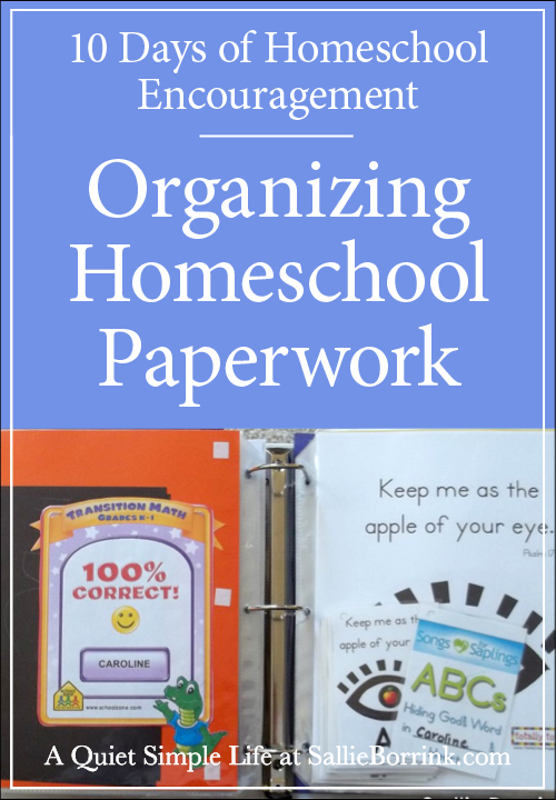 Organizing Homeschool Paperwork in Binders