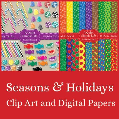 Seasonal Digital Papers