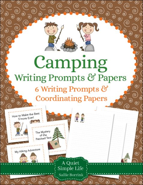 Camping Writing Prompts and Papers
