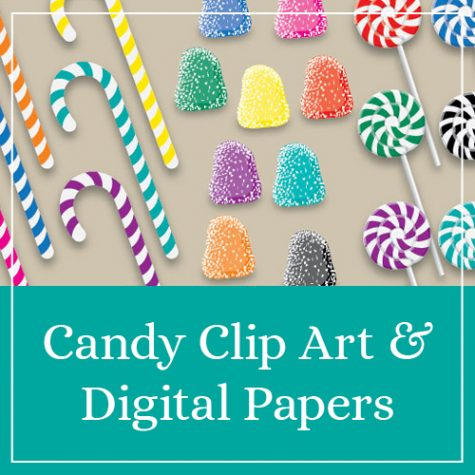 Candy Clip Art & Digital Papers