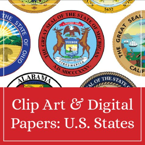 Clip Art & Digital Papers: U.S. States