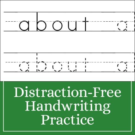 Distraction-Free Handwriting Practice