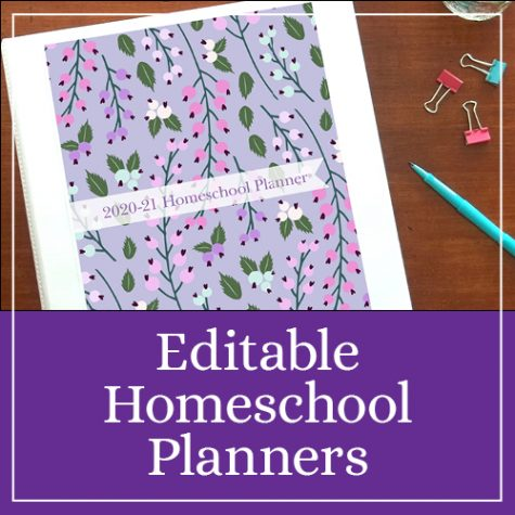 Editable Homeschool Planners