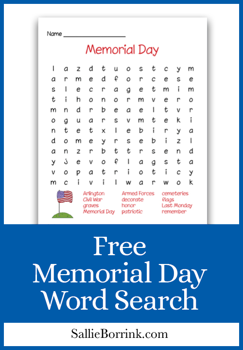Free Memorial Day Word Search - A Quiet Simple Life with ...