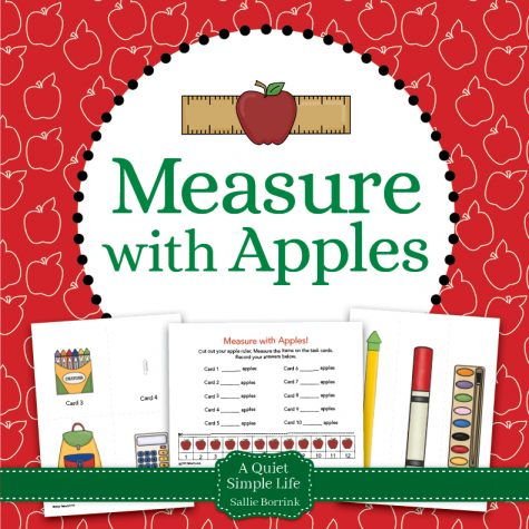Measure with Apples Math Center Activity