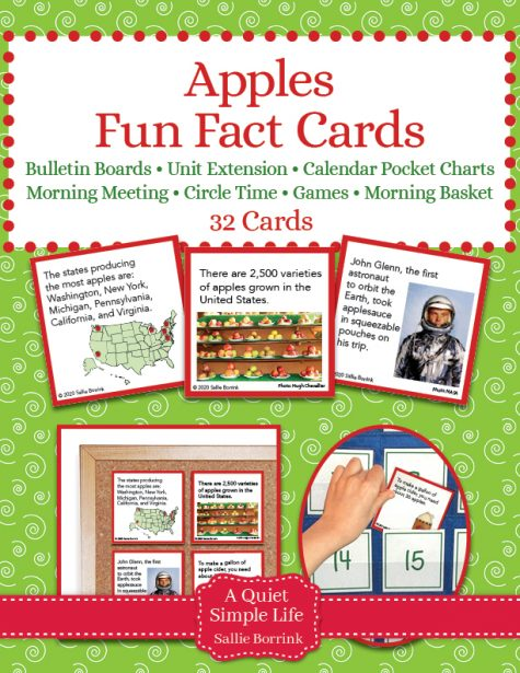 Apples Fun Facts Cards
