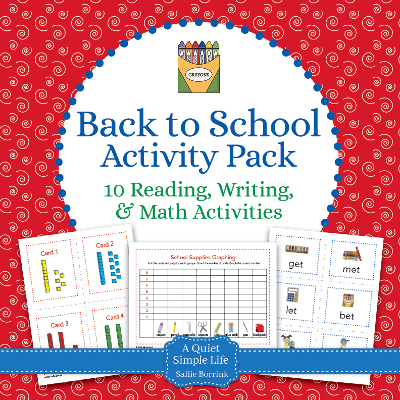 Back to School Literacy and Math Pack – 10 Centers