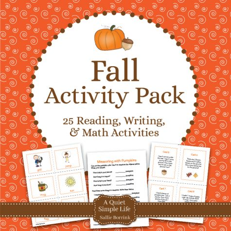 Fall Literacy and Math Pack – 30+ Centers and Activities