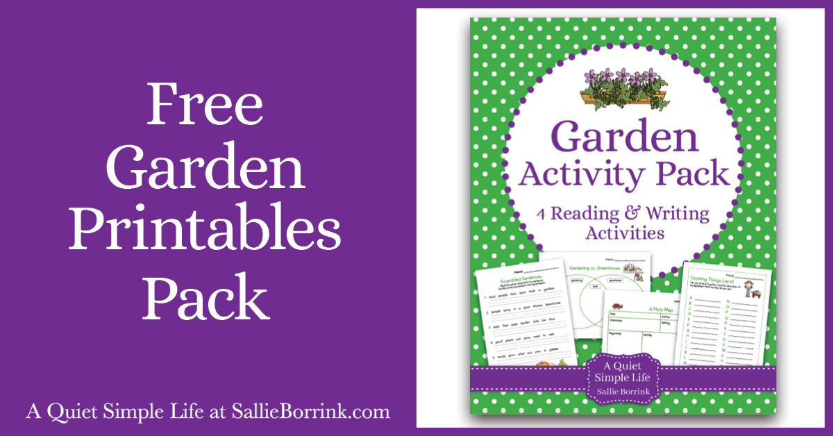 Free Garden Printables Pack