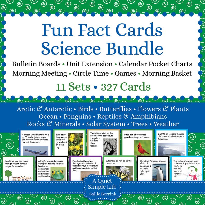 Science Fun Fact Cards Bundle