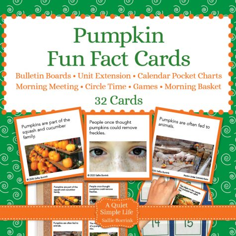 Pumpkins Fun Facts Cards