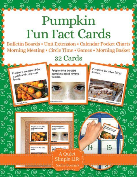 Pumpkins Fun Facts Cards