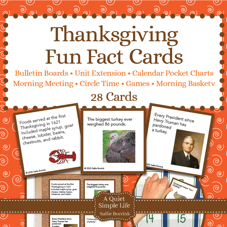 thanksgiving fun facts cards  a quiet simple life with
