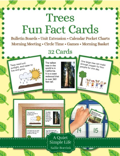 Trees Fun Facts Cards