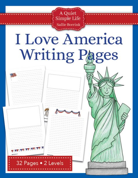 I Love America Writing Pages