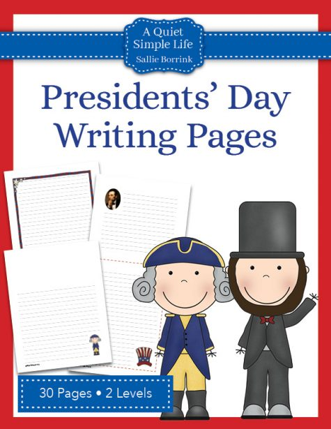 Presidents' Day Writing Pages