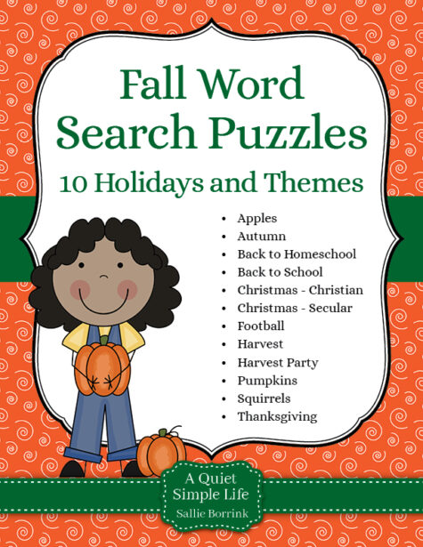 Fall Word Search Puzzles