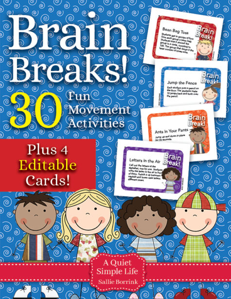 Brain Breaks Fun Movement Activities with Editable Cards